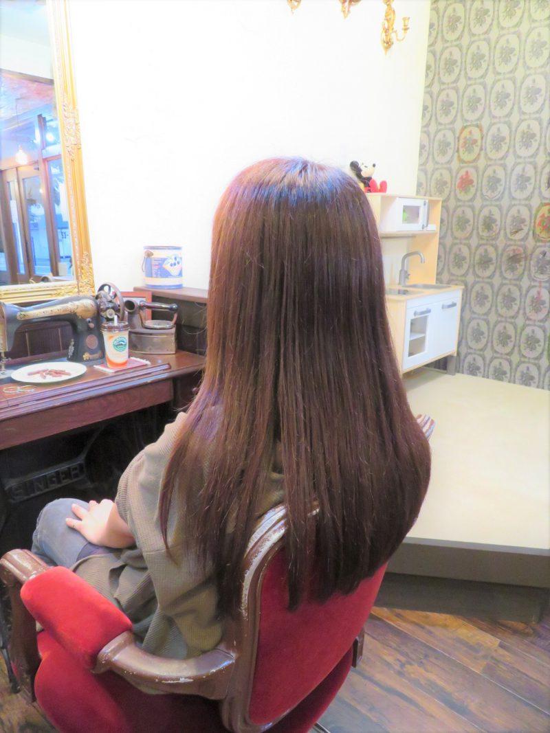 藤沢 美容院 ヘア ヘアスタイル ロングヘア ストレート つや さらさら