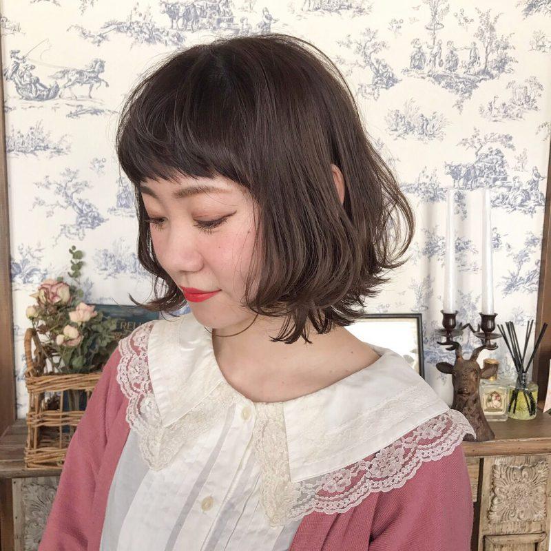 藤沢 美容院 ヘア ヘアスタイル ボブ コテ セット ゆる巻き