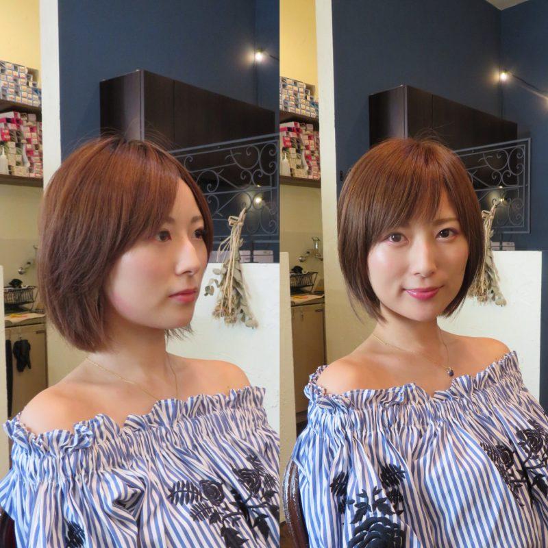 美容室 ヘアサロン 藤沢 美容院 施術事例 ヘアスタイル ビフォーアフター