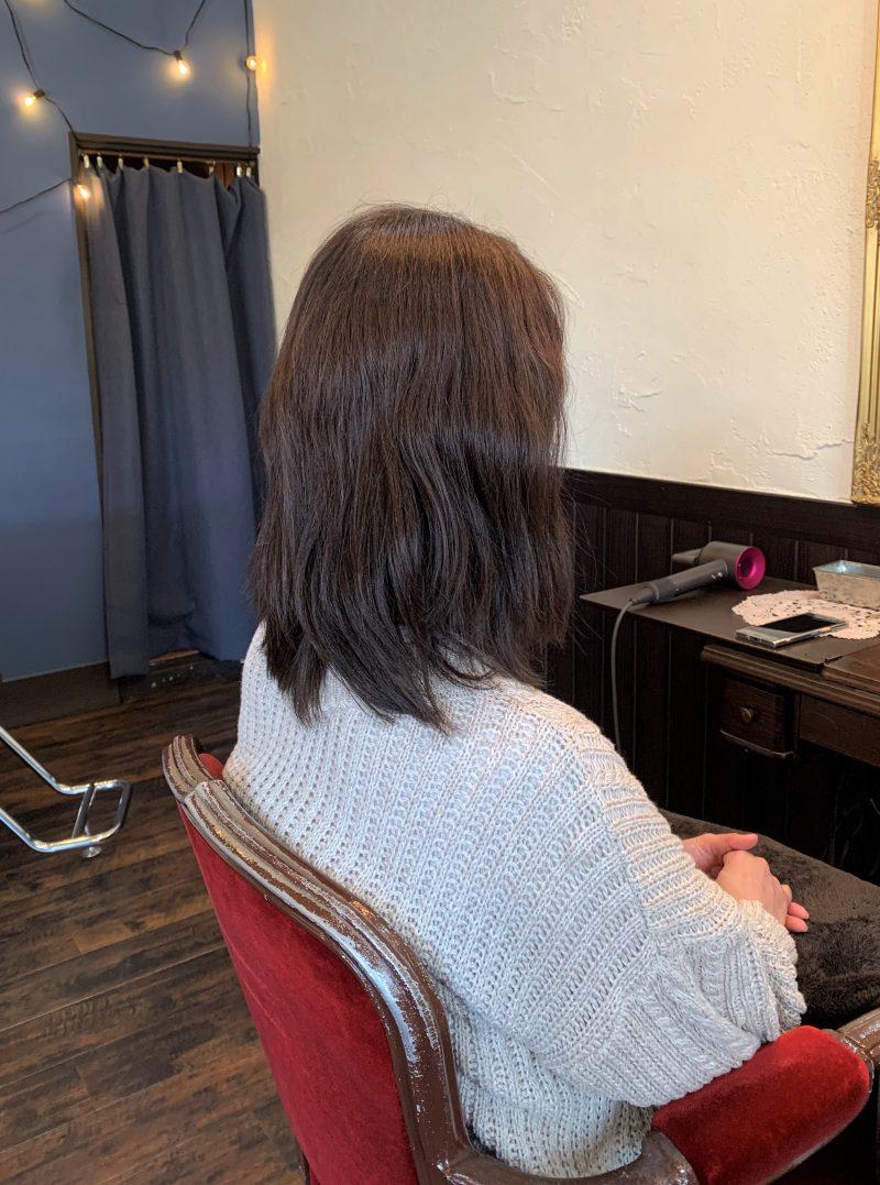 美容院 カット 美容室 ヘアサロン 藤沢 美容院 施術事例 ヘアスタイル ビフォーアフター 縮毛矯正