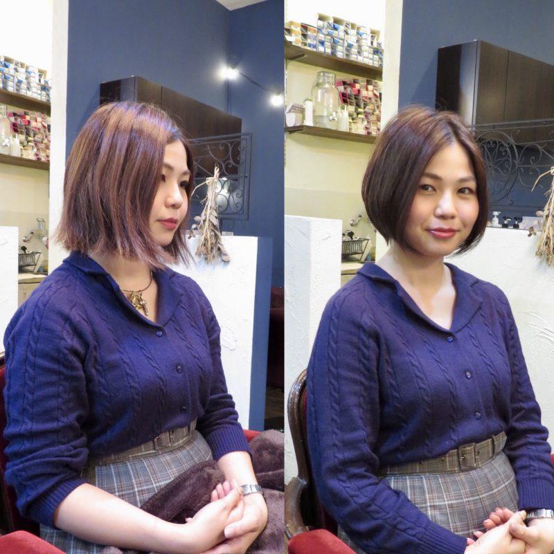 美容室 ヘアサロン 藤沢 美容院 施術事例 ヘアスタイル ビフォーアフター ショートカット ボブ カット