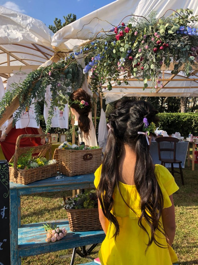 藤沢 辻堂 美容院 美容室 ヘアサロン ガーデンフェスティバル ガーデンフェス ヘアアレンジ プリンセス キッズ 子連れ