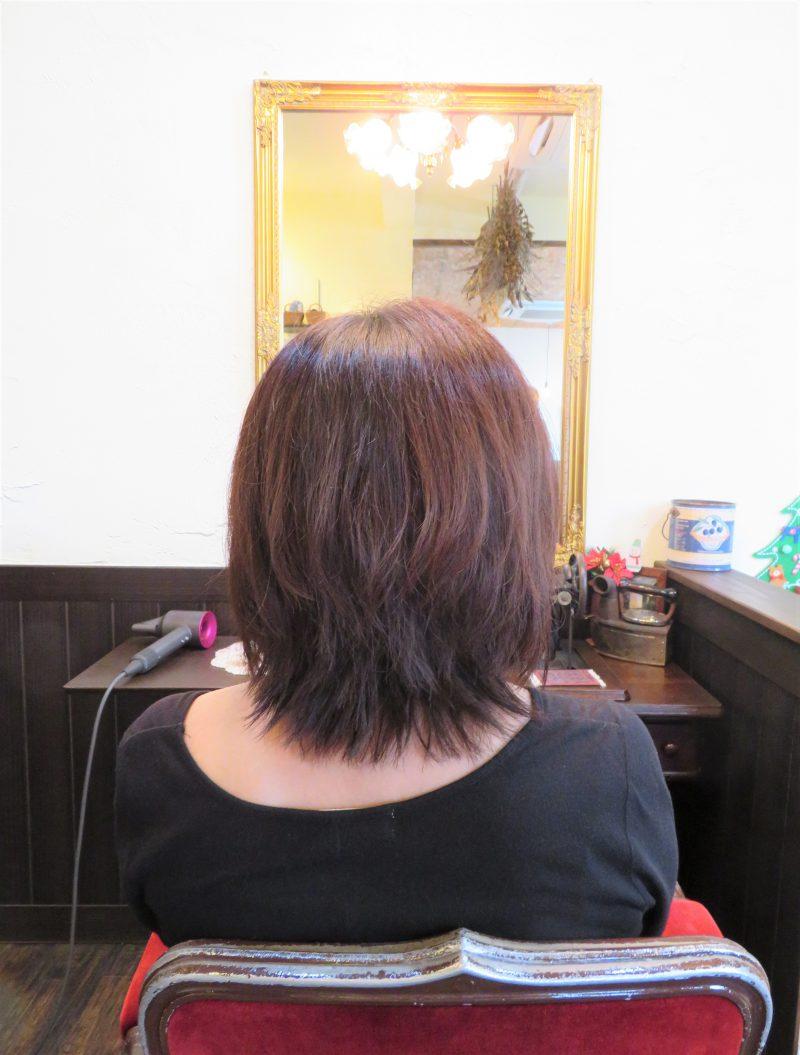 カット 美容室 ヘアサロン 藤沢 美容院 施術事例 ヘアスタイル ビフォーアフター レイヤー 前上がり