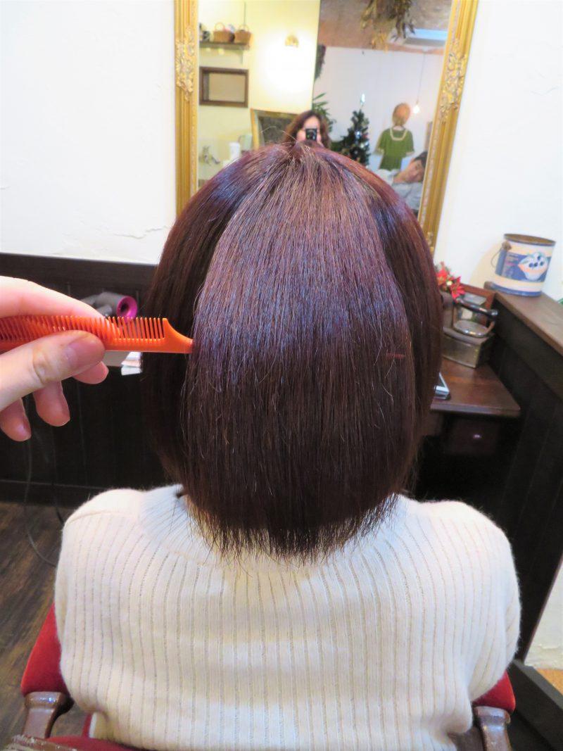 美容院 カット 美容室 ヘアサロン 藤沢 美容院 施術事例 ヘアスタイル ビフォーアフター ボブ 縮毛矯正