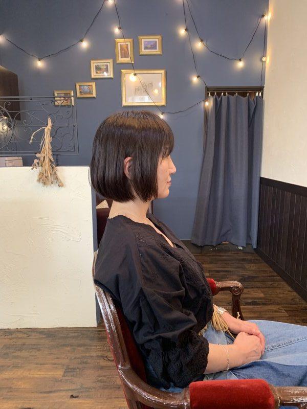 美容院 カット 美容室 ヘアサロン 藤沢 美容院 施術事例 ヘアスタイル ビフォーアフター ボブ  施術事例