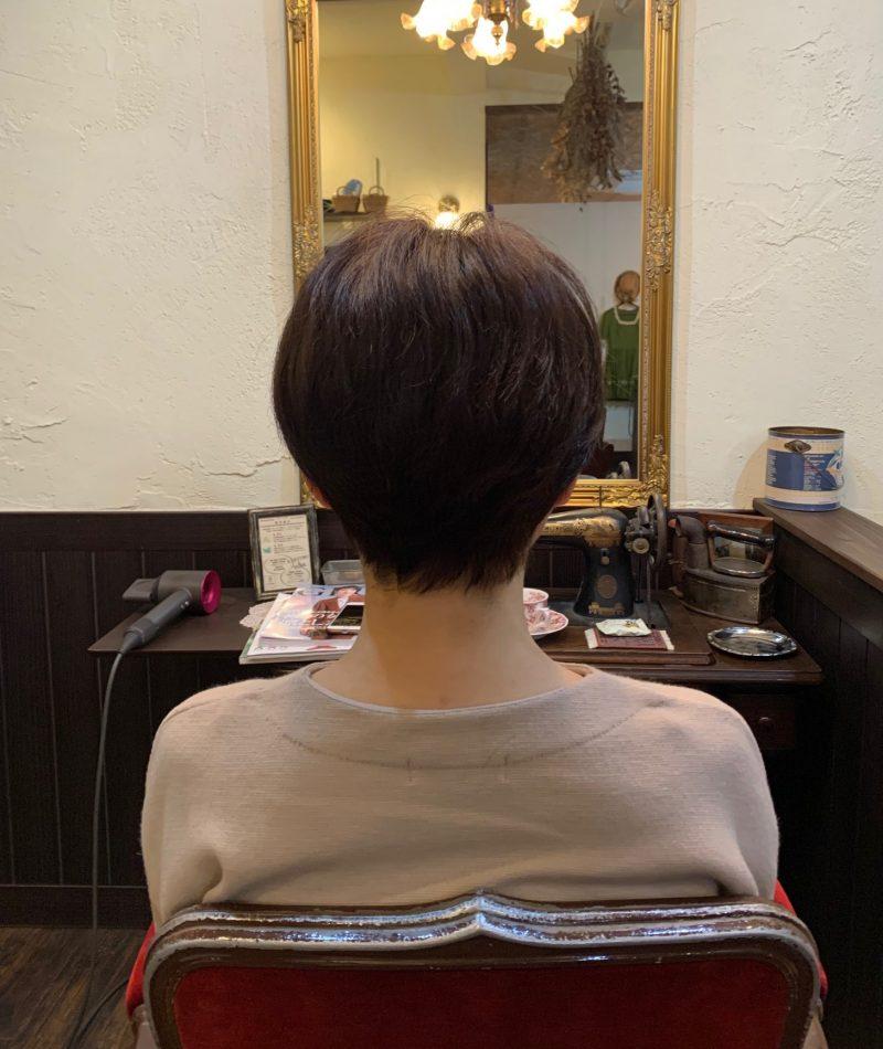 美容院 カット 美容室 ヘアサロン 藤沢 美容院 施術事例 ヘアスタイル ビフォーアフター  ショートヘア 施術事例