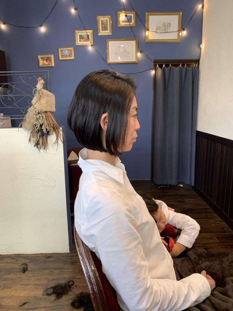 美容院 カット 美容室 ヘアサロン 藤沢 美容院 施術事例 ヘアスタイル ビフォーアフター  ショートヘア 施術事例 ボブ