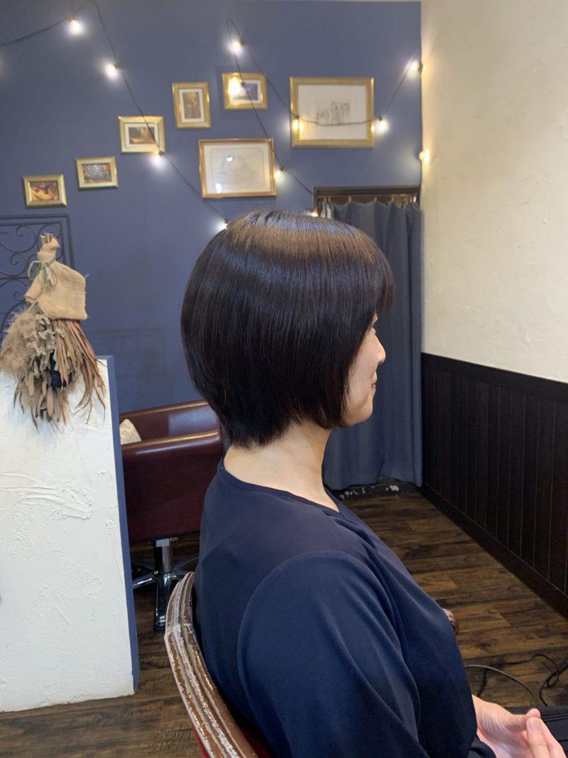 美容院 縮毛矯正 美容室 ヘアサロン 藤沢 美容院 施術事例 ヘアスタイル ビフォーアフター  ショートヘア 施術事例