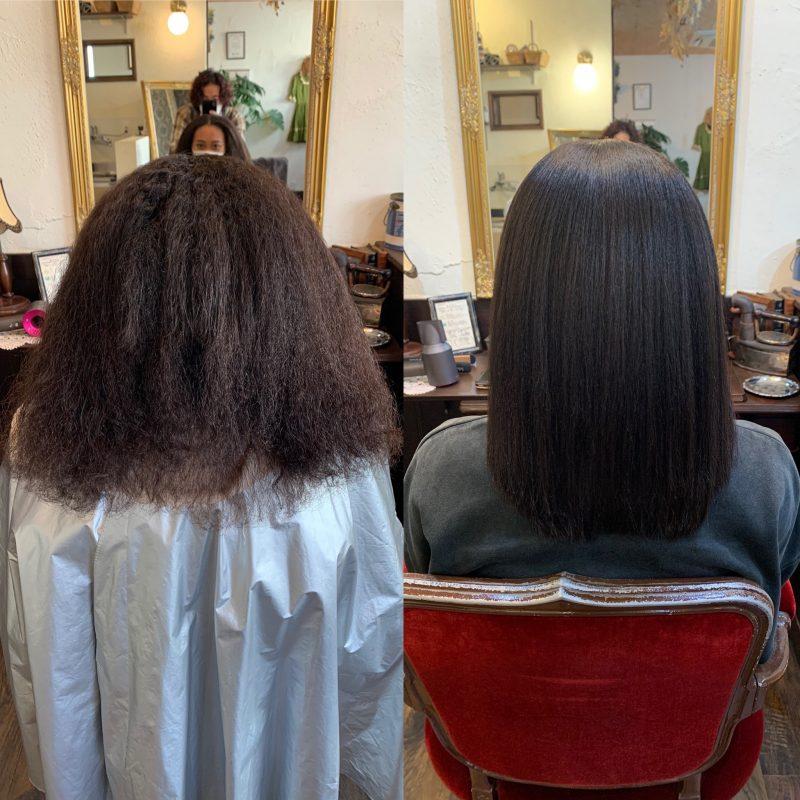美容院 縮毛矯正 美容室 ヘアサロン 藤沢 美容院 施術事例 ヘアスタイル ビフォーアフター 施術事例
